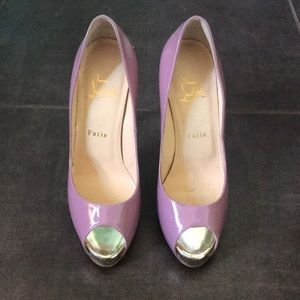 Louboutin Heels Platform Peep toe Like New Pink 39